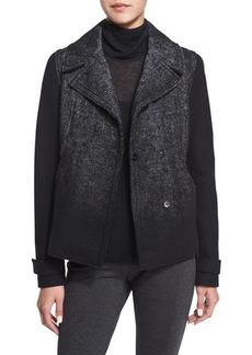 Elie Tahari Kiana Woven Snap-Front Coat