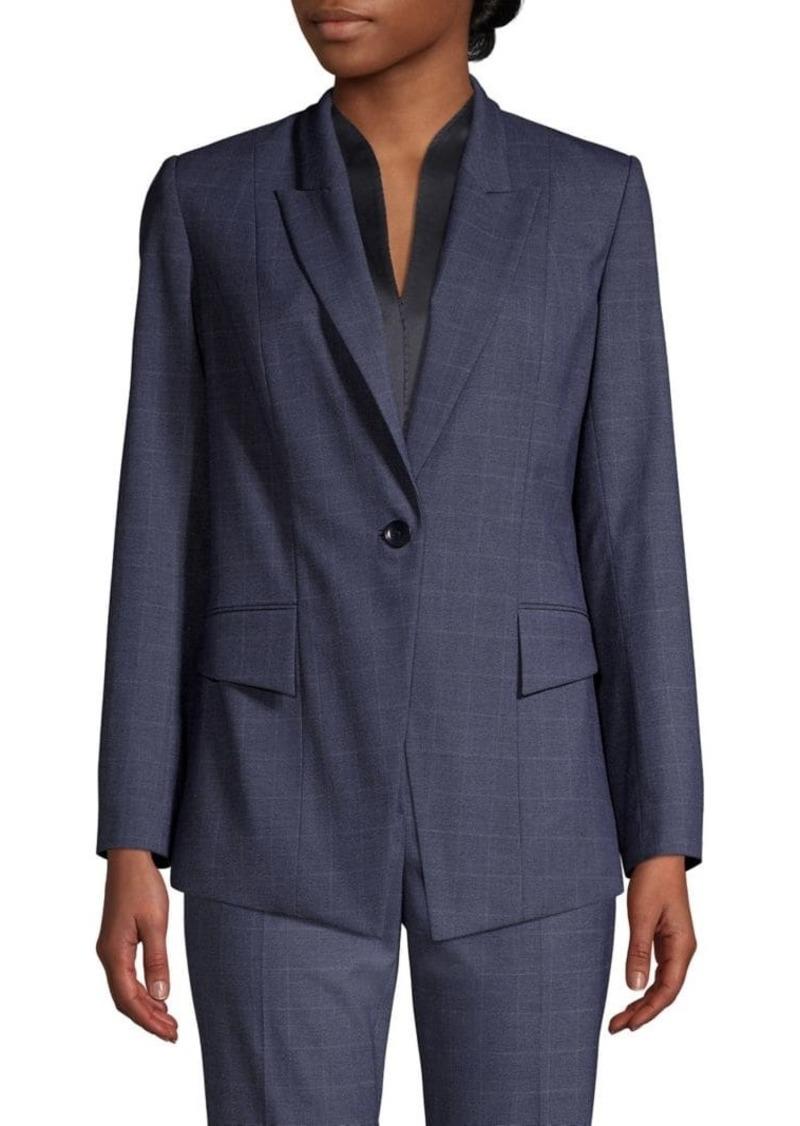 Elie Tahari Kiersten Check Jacket