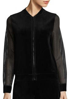Elie Tahari Kimmy Velour Jacket