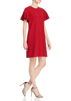 Elie Tahari Krystal Flounce-Sleeve Shift Dress