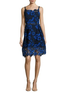 Elie Tahari Lace Fit and Flare Dress