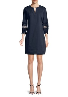 Elie Tahari Lace Sleeve Shift Dress