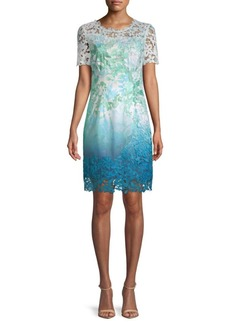 Elie Tahari Laced Organdy Mini Dress
