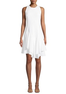 Elie Tahari Lalana Sleeveless Draped Skirt
