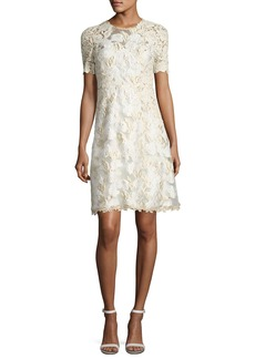 Elie Tahari Larsa Short-Sleeve Lace Dress