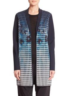 Elie Tahari Laser Laser-Cut Neoprene Coat