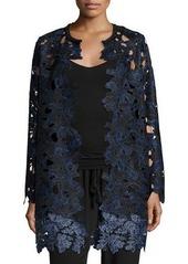 Elie Tahari Lauren Long Lace Coat