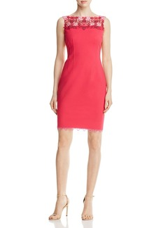 Elie Tahari Laurence Lace Yoke Dress