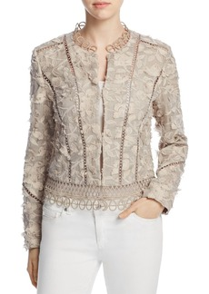 Elie Tahari Leanne Embroidered Jacket
