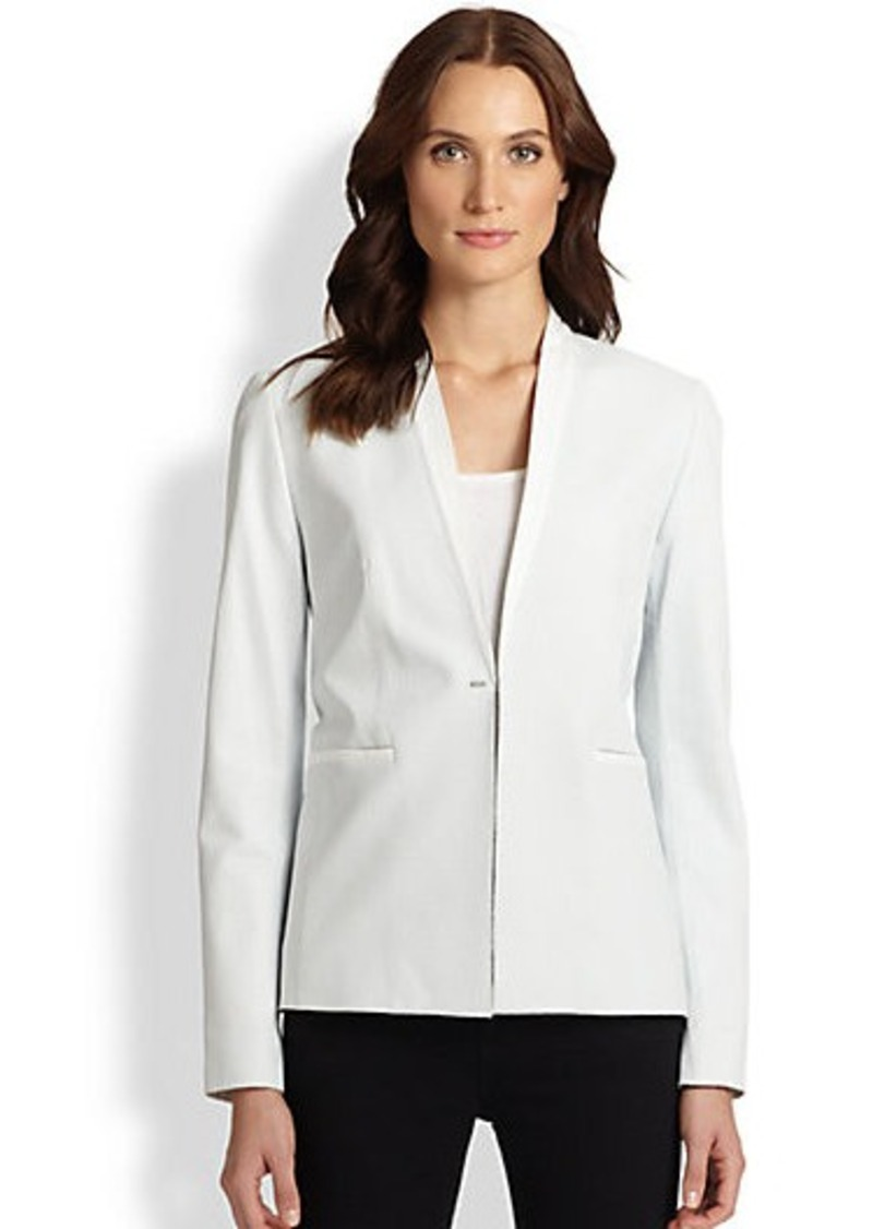 Elie Tahari Leather Darcy Jacket