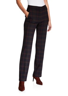 Elie Tahari Leena Plaid Pants