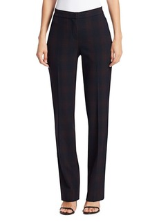 Elie Tahari Leena Shadow Plaid Suiting Trousers