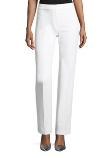 Elie Tahari Leena Stretch-Cotton Straight-Leg Pants