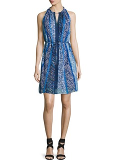Elie Tahari Lenora Sleeveless Floral-Print Dress