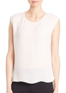 Elie Tahari Leona Sleeveless Silk Blouse