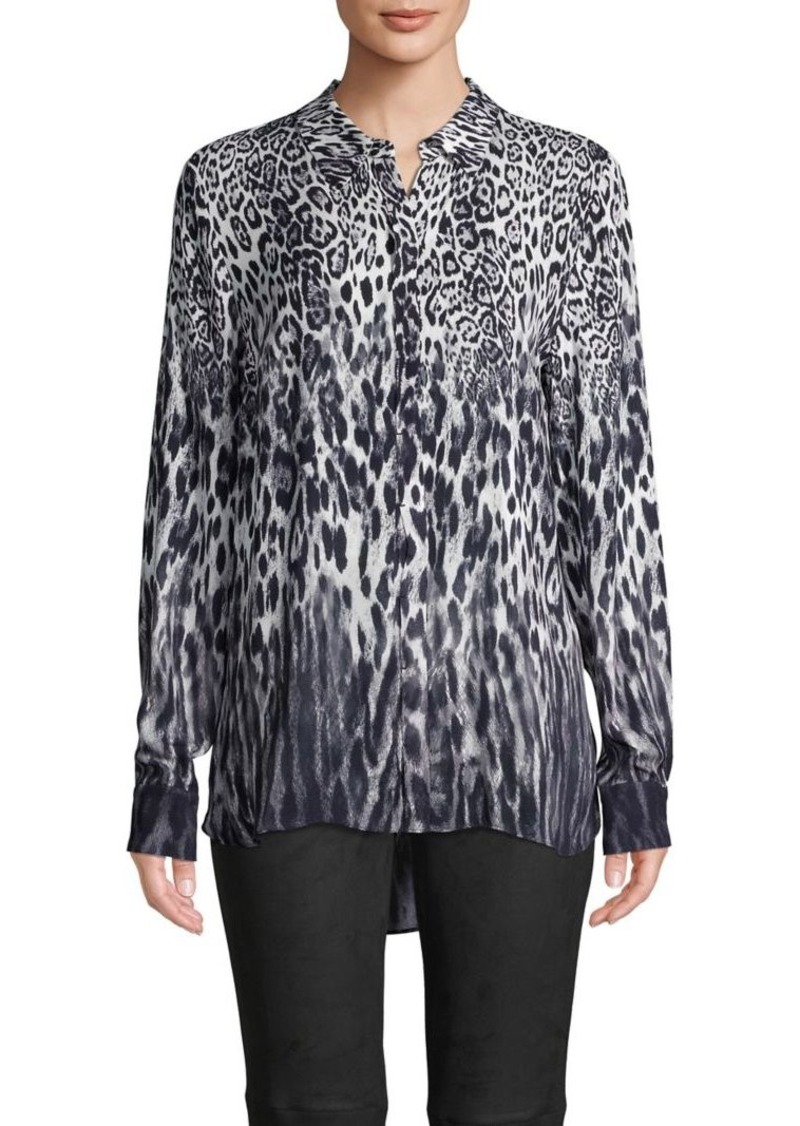Elie Tahari Leopard Long-Sleeve Shirt