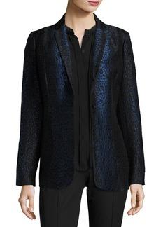 Elie Tahari Leopard-Print One-Button Blazer