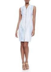 Elie Tahari Leslie Sleeveless Zip-Front Dress