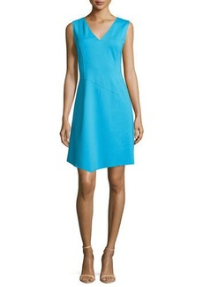 Elie Tahari Lexcy Sleeveless Asymmetric-Hem Dress