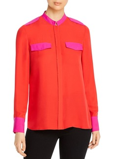 Elie Tahari Lexi Color-Block Collared Shirt