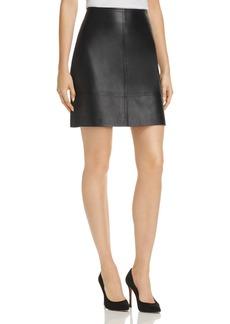 Elie Tahari Lexie Leather Mini Skirt
