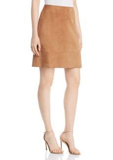 Elie Tahari Lexie Suede A-Line Mini Skirt