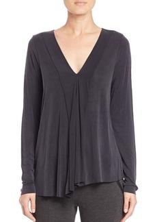 Elie Tahari Libby Asymmetrical Jersey Blouse