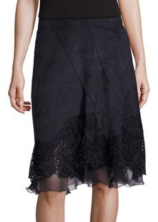 Elie Tahari Lila Lace Applique Skirt