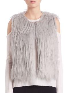 Elie Tahari Lilian Faux Fur Vest
