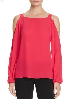 Elie Tahari Lindy Silk Cold Shoulder Blouse