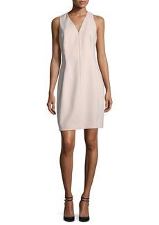 Elie Tahari Linzra Zip-Front V-Neck Sheath Dress