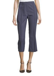 Elie Tahari Lisa Two-Tone Plaid Crop Pants