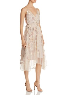 Elie Tahari Lisandra Floral Appliqu� Dress