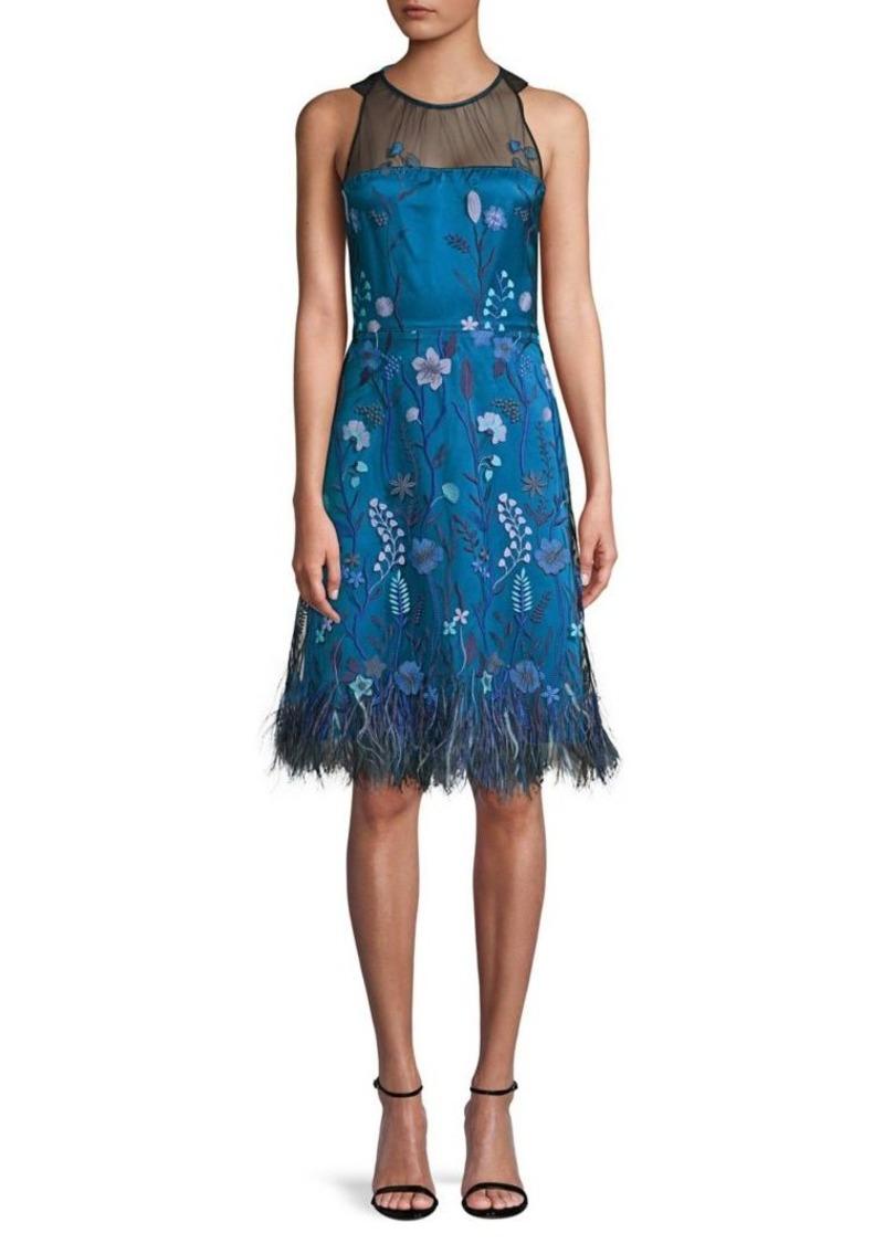 e58c608bd88a Elie Tahari Elie Tahari Litsa Embroidery Feather A-line Dress | Dresses