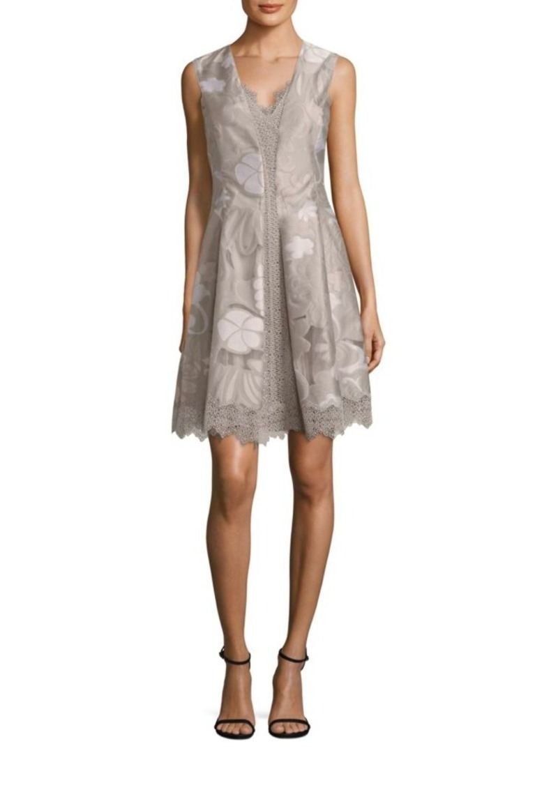 Elie Tahari Lola Lace Inset Dress
