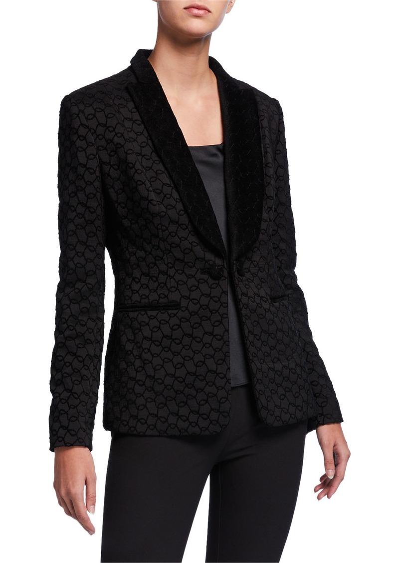 Elie Tahari Lorela Circular Shawl-Collar Jacket