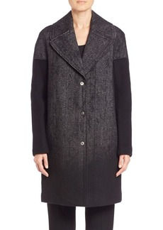 Elie Tahari Louisa Needle Punch Coat