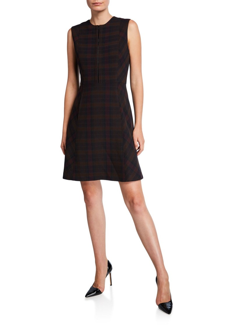 Elie Tahari Louisa Plaid Sleeveless Dress