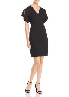 Elie Tahari Lourdes Slit-Sleeve Sheath Dress