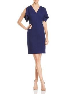 Elie Tahari Lourdes Slit-Sleeve Sheath Dress