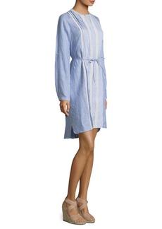 Elie Tahari Luca Linen Knee-Length Dress