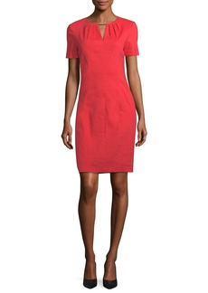 Elie Tahari Lucetta V-Neck Short-Sleeve Dress