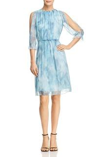 Elie Tahari Luciana Ruffle Silk Dress