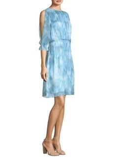 Luciana Silk A-Line Dress