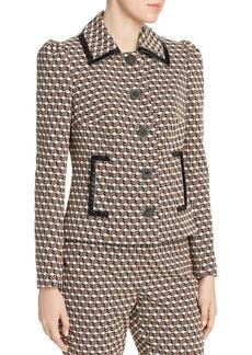 Elie Tahari Luka Printed Puff-Sleeve Jacket