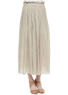 Elie Tahari Luna Pleated Maxi Skirt