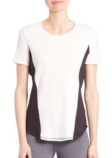 Elie Tahari Mackenzie Short Sleeve Colorblock Top