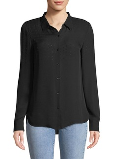 Elie Tahari Macklyn Embellished Silk Blouse