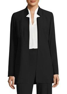 Elie Tahari Maclaine Open Front Velvet Jacket