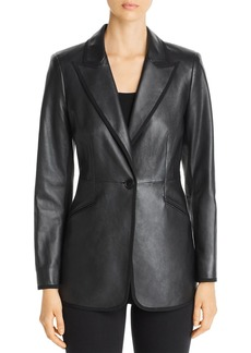 Elie Tahari Madison Leather Blazer